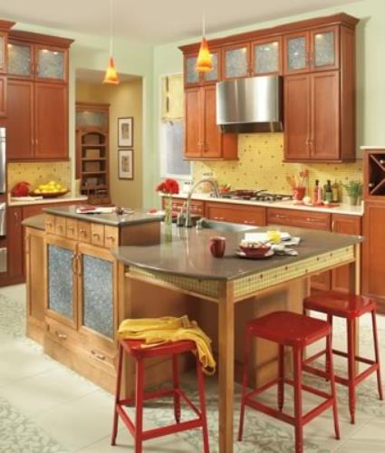 Custom Dining Kitchen Island: Casual Kitchen Seating